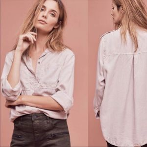 Anthropologie Holding Horses Dusty Pearl Button Up